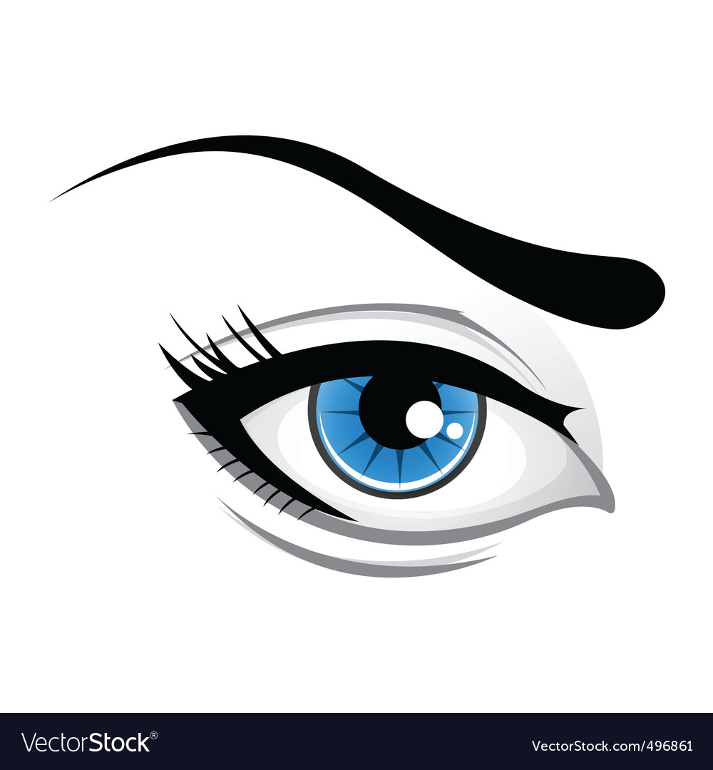 Lady eye vector | Price: 1 Credit (USD $1)