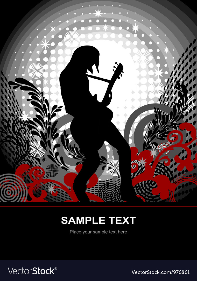 Music guitarist web and print template vector | Price: 1 Credit (USD $1)