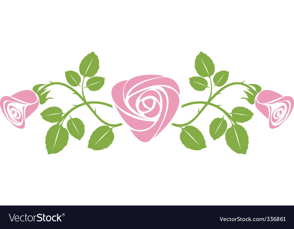Rose design vector | Price: 1 Credit (USD $1)