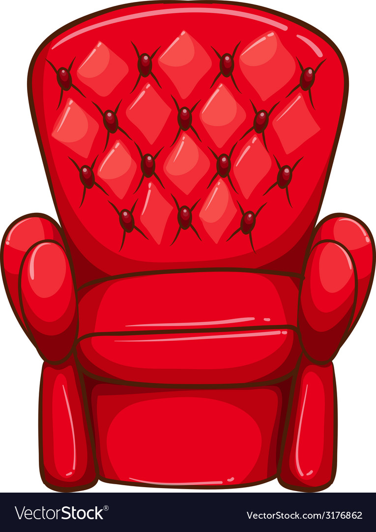 A simple drawing of a red chair vector | Price: 1 Credit (USD $1)