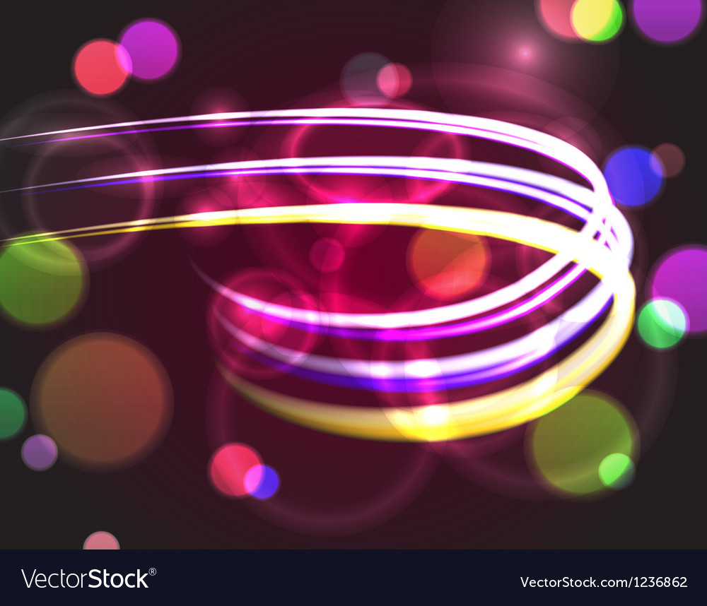 Abstract background with blurred neon lights vector | Price: 1 Credit (USD $1)
