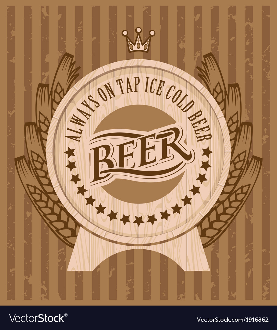 Beer keg vector | Price: 1 Credit (USD $1)
