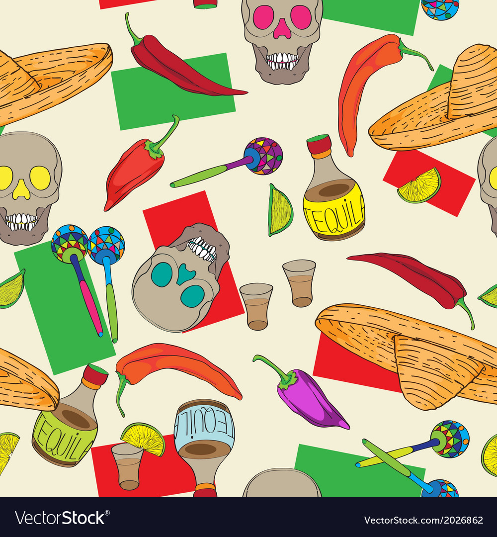 Cinco de mayo pattern vector | Price: 1 Credit (USD $1)