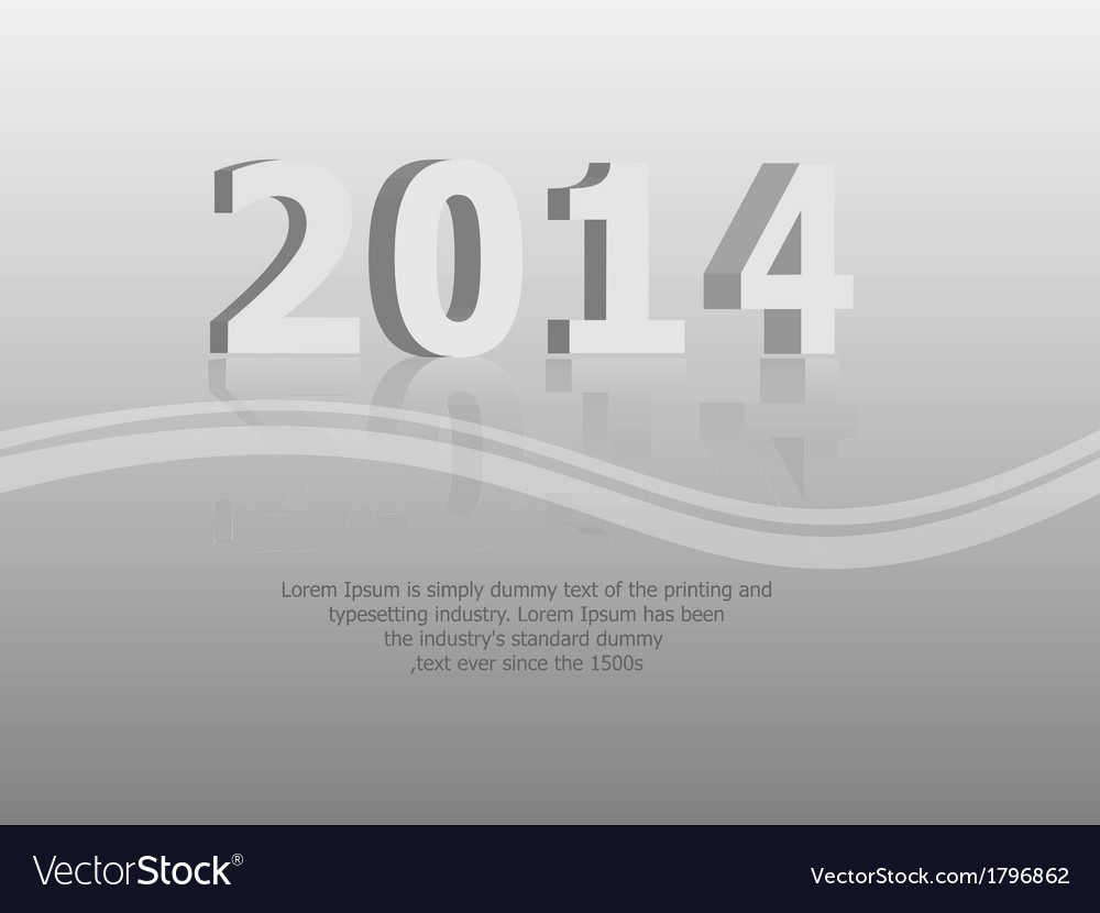 Clean 2014 background vector | Price: 1 Credit (USD $1)