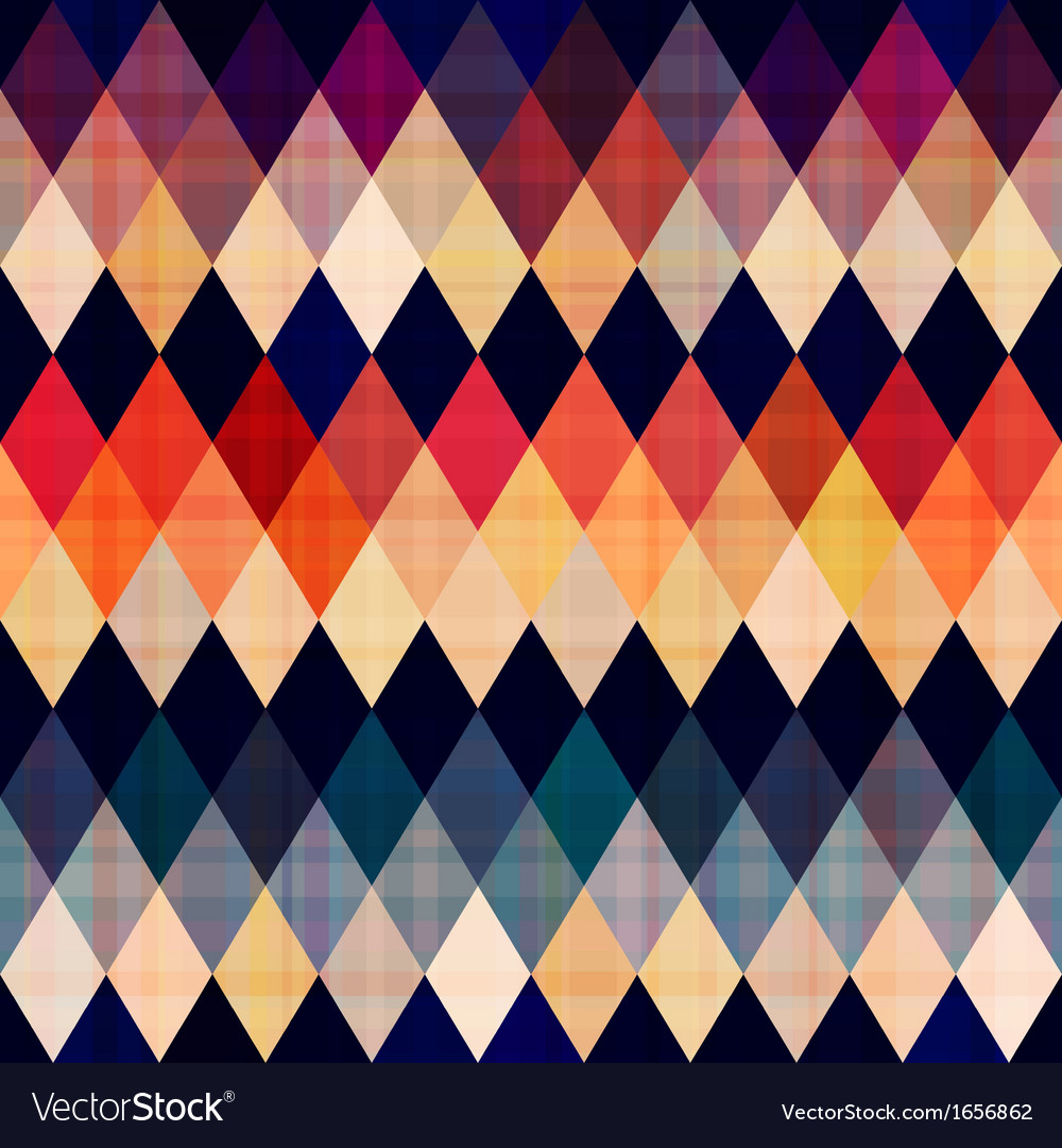 Colorful seamless argyle pattern vector | Price: 1 Credit (USD $1)