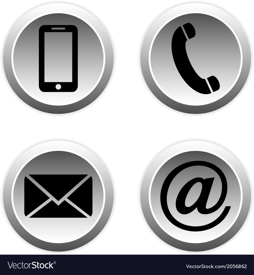 Contact buttons set vector | Price: 1 Credit (USD $1)