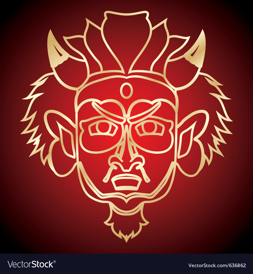 Cultural mask vector | Price: 1 Credit (USD $1)