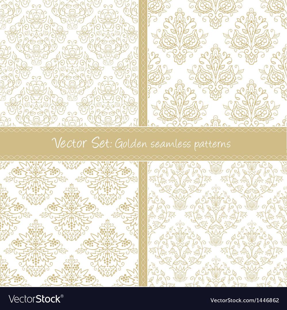 Damask festive seamless goden pattern vector   Price: 1 Credit (USD $1)