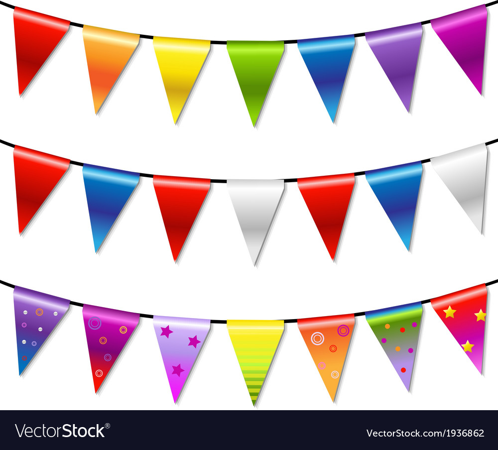 Rainbow bunting banner garland vector | Price: 1 Credit (USD $1)