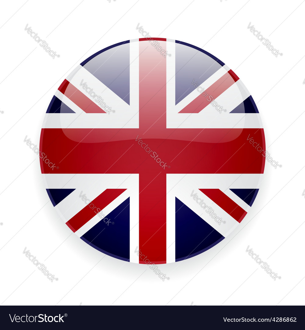 Round icon with flag of the uk vector | Price: 1 Credit (USD $1)