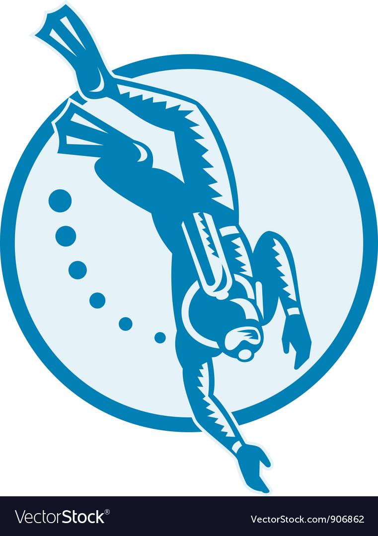 Scuba diver vector   Price: 1 Credit (USD $1)