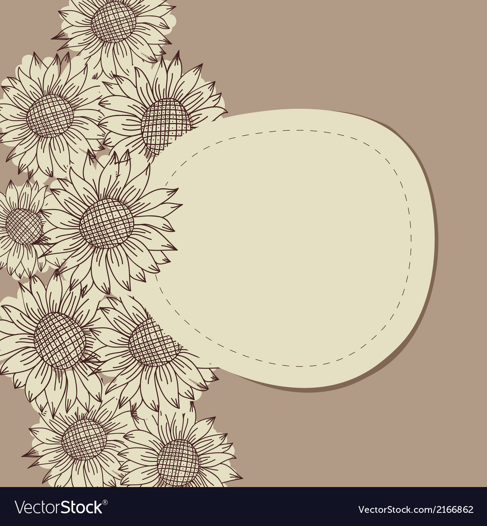 Seamless vintage ornament with sunflowers vector | Price: 1 Credit (USD $1)