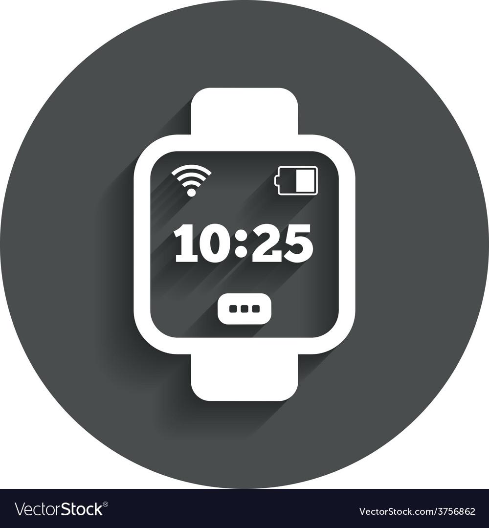 Smart watch sign icon wrist digital watch vector   Price: 1 Credit (USD $1)