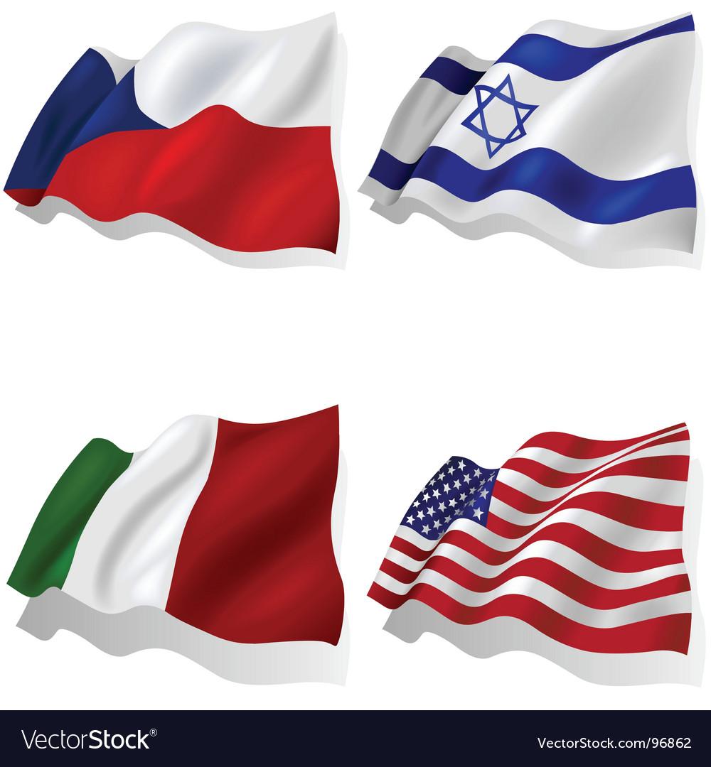 Wavy flags vector   Price: 1 Credit (USD $1)