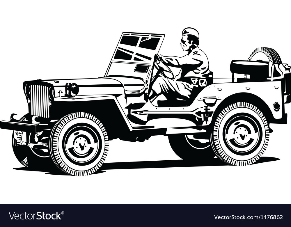 World war two army all road vehicle vector | Price: 1 Credit (USD $1)
