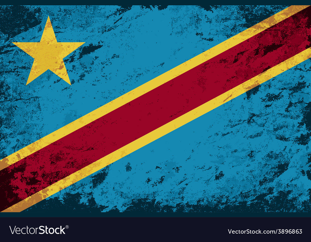 Congo flag grunge background vector | Price: 1 Credit (USD $1)