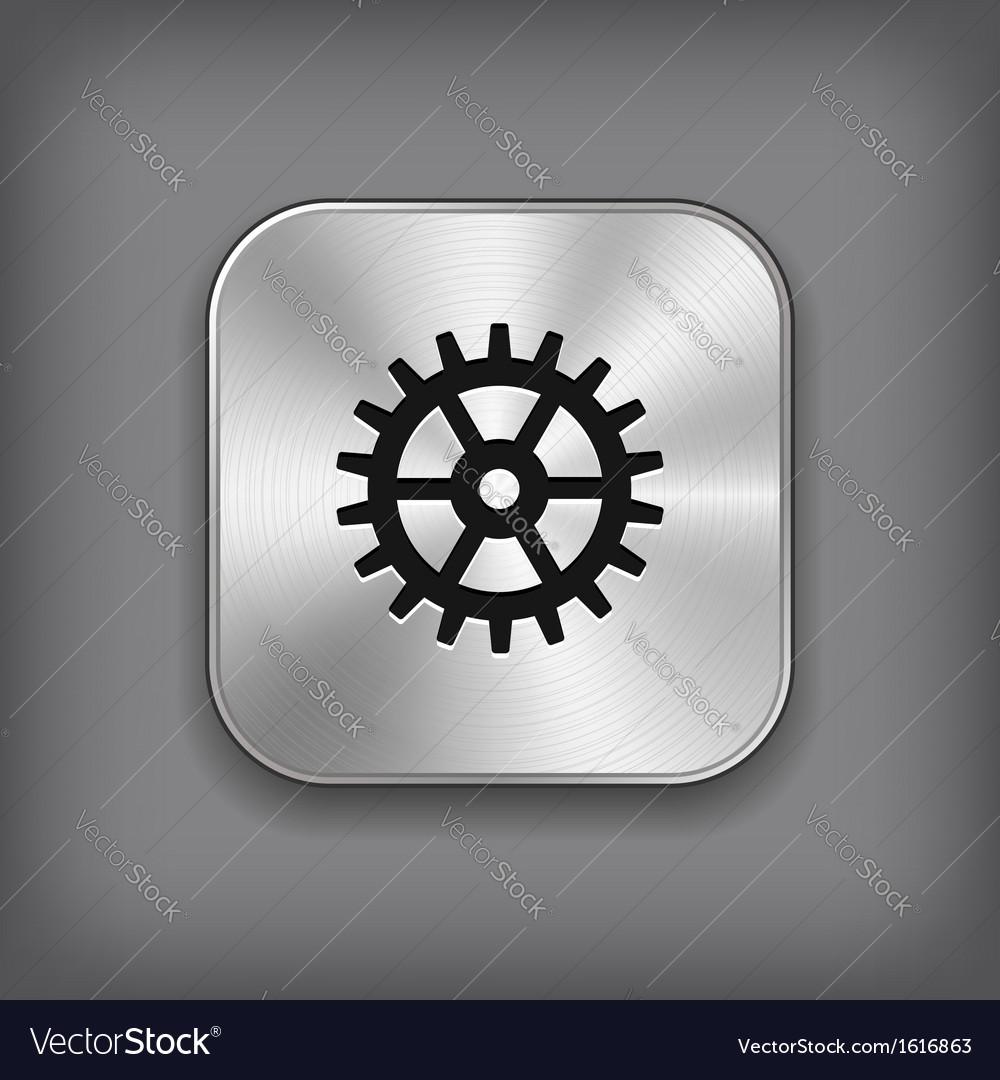 Gear icon - metal app button vector | Price: 1 Credit (USD $1)