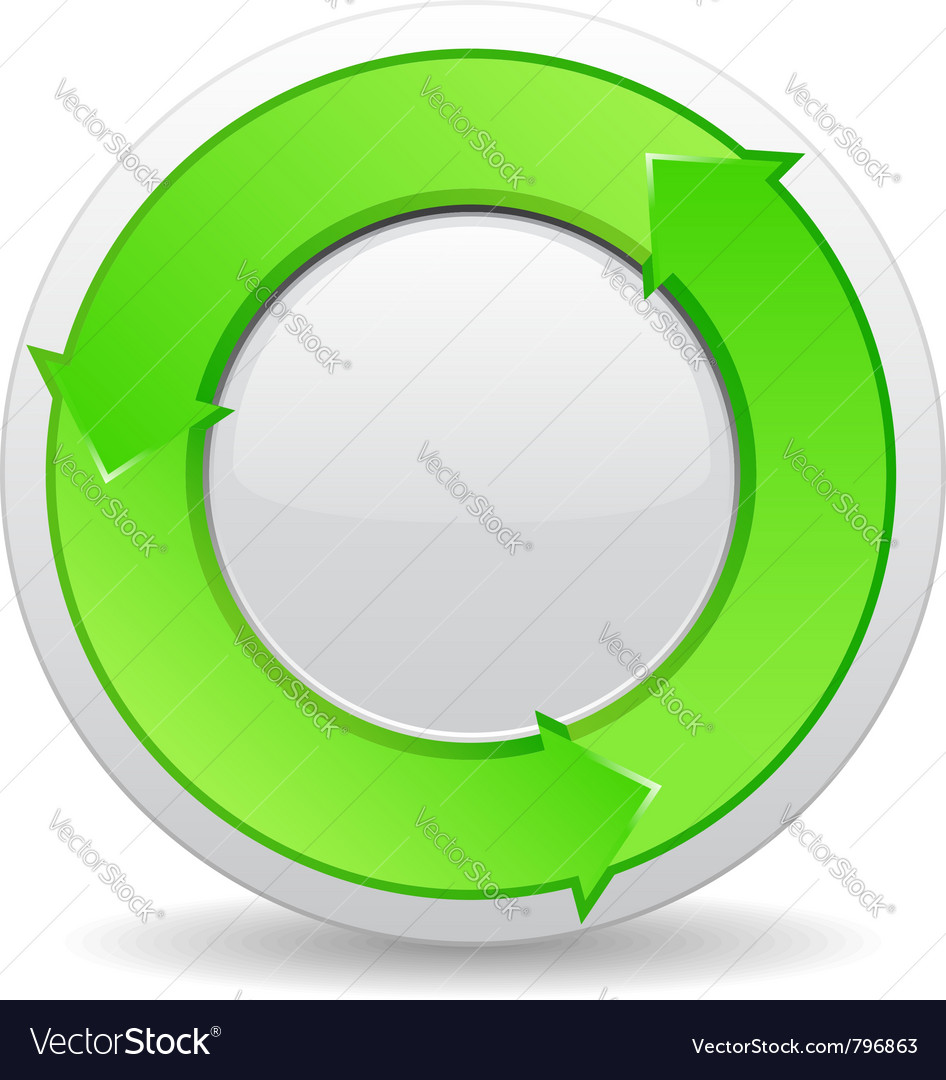 Green button with arrows vector | Price: 1 Credit (USD $1)