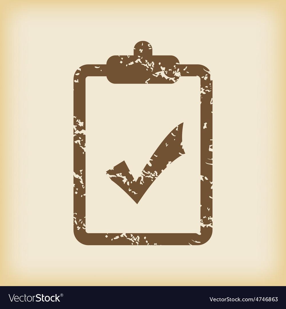 Grungy accept icon vector   Price: 1 Credit (USD $1)