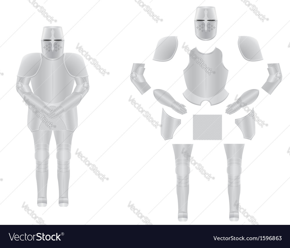 Knight armor 02 vector | Price: 1 Credit (USD $1)