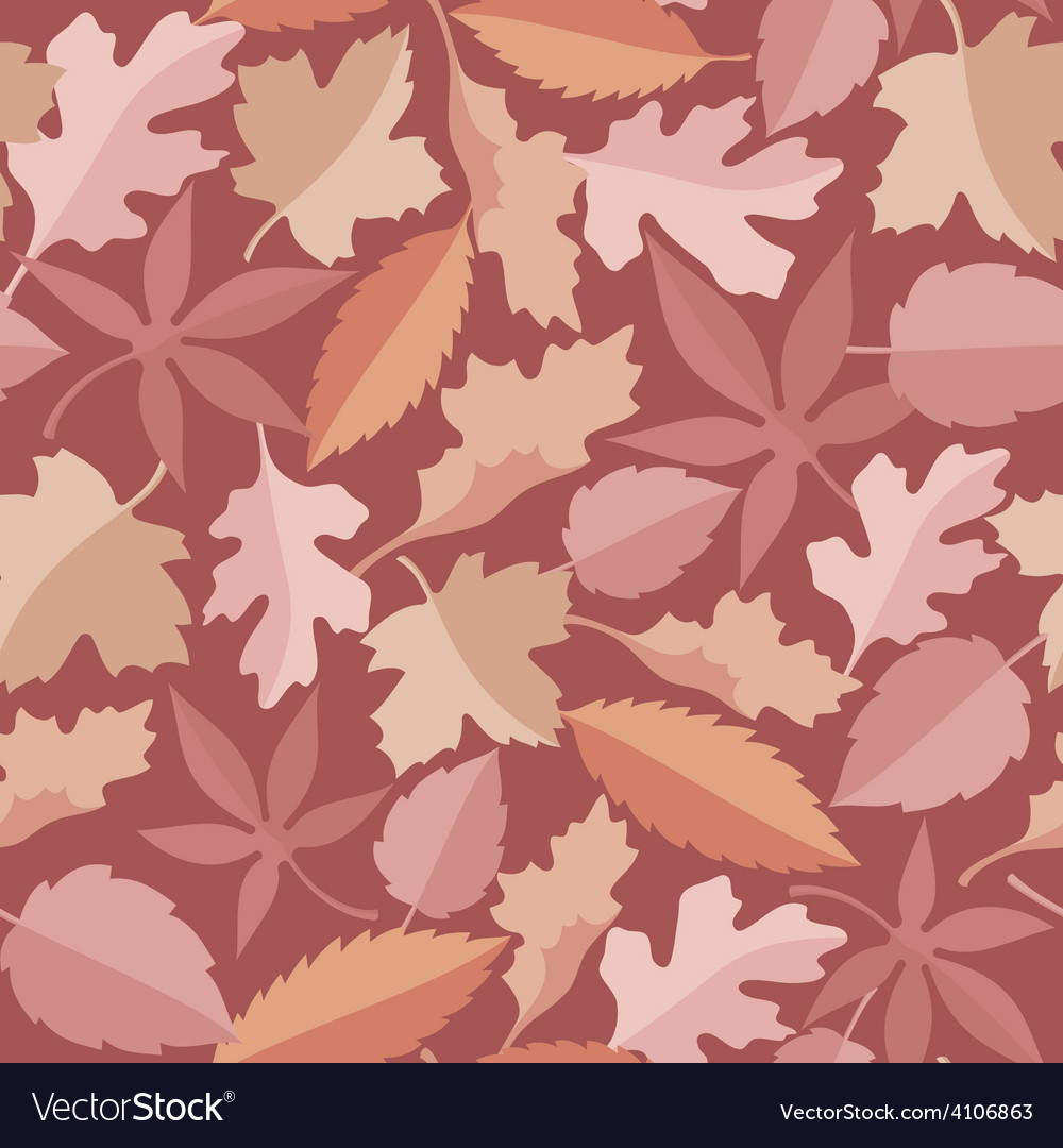 Leaves marsala pattern vector
