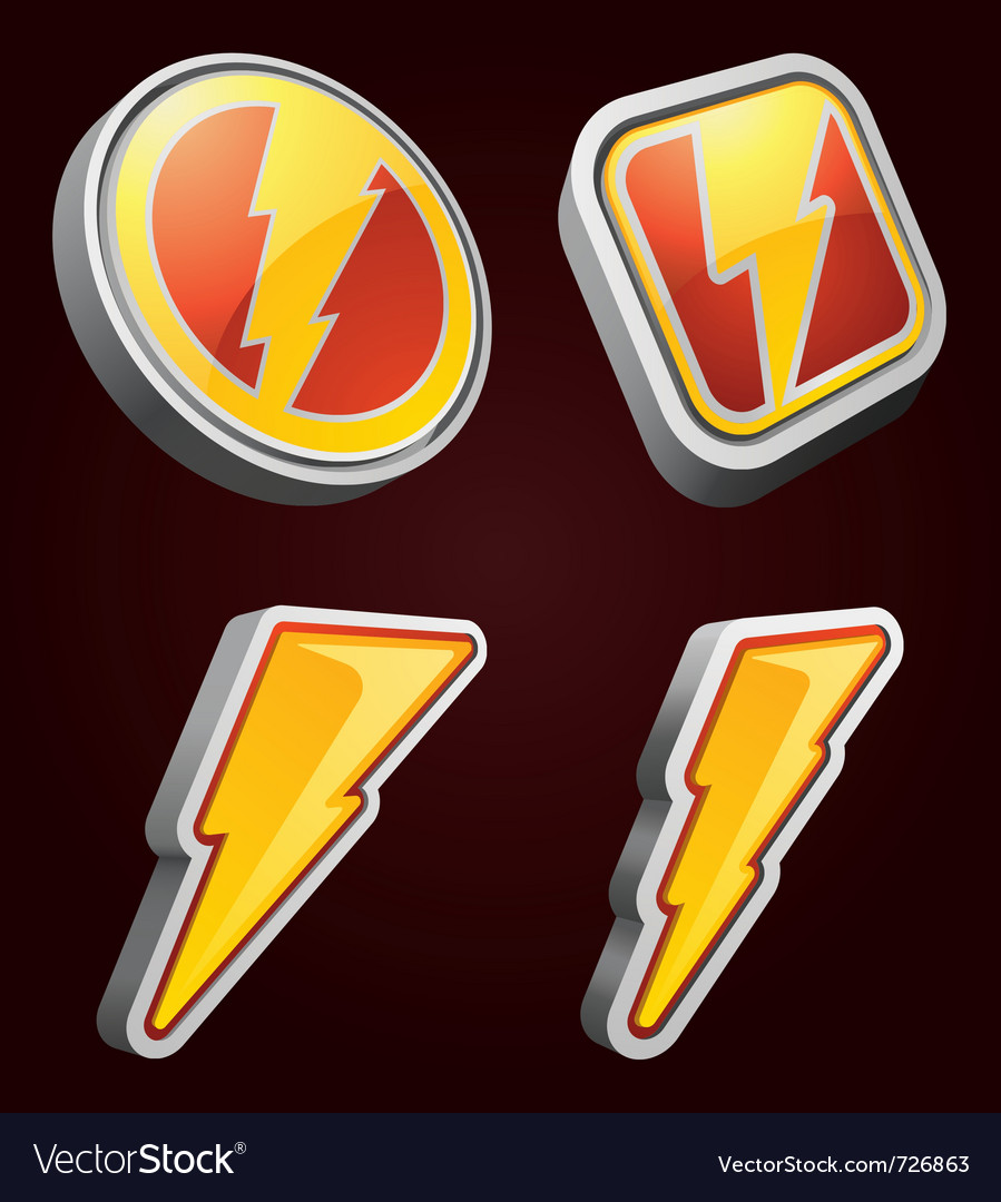 Lightning bolt icons vector | Price: 1 Credit (USD $1)