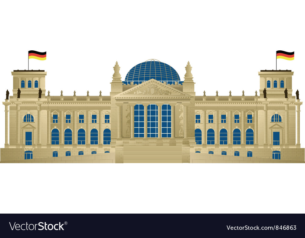 Reichstag vector | Price: 1 Credit (USD $1)