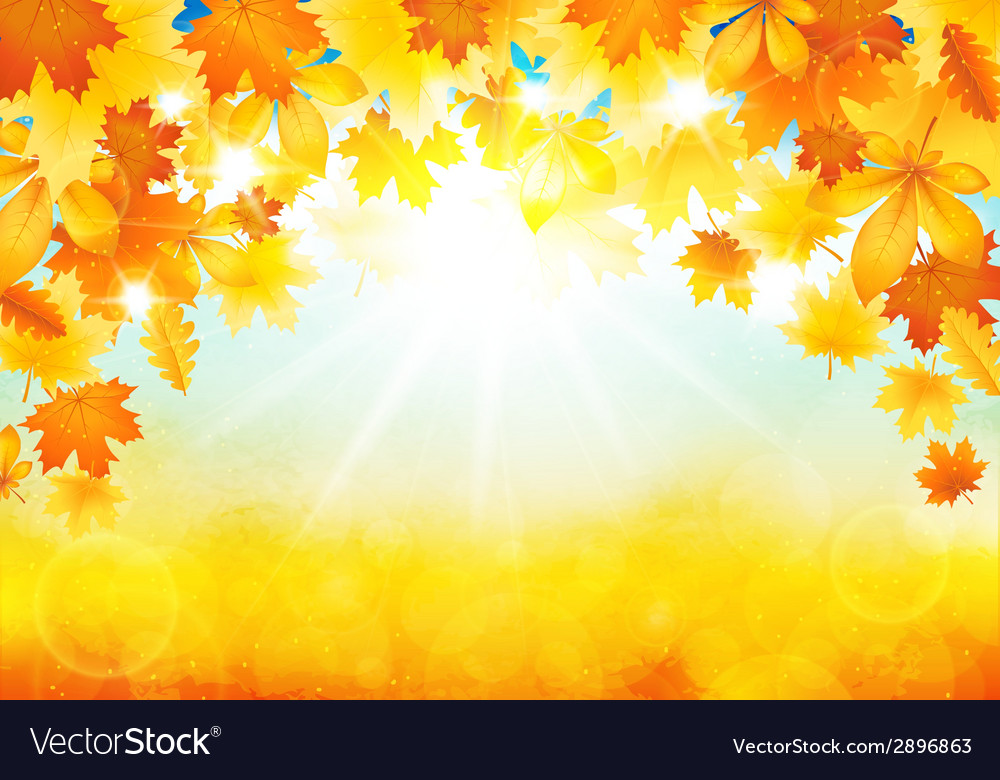 Sunny autumn day vector | Price: 1 Credit (USD $1)