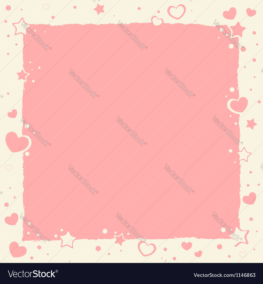 Valentine love romantic frame with hearts and star vector | Price: 1 Credit (USD $1)