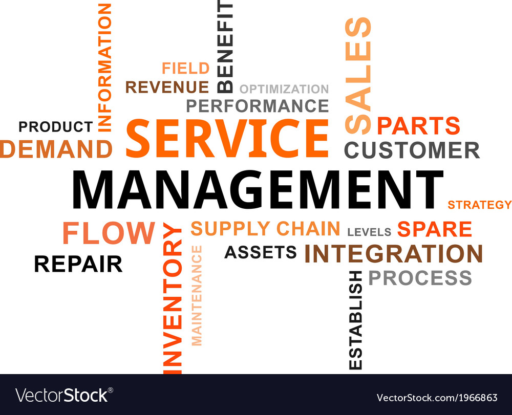 Word cloud service management vector | Price: 1 Credit (USD $1)