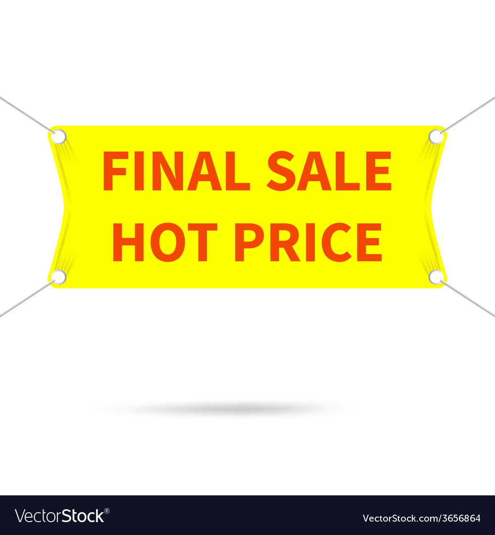 Banner final sale hot price vector | Price: 1 Credit (USD $1)