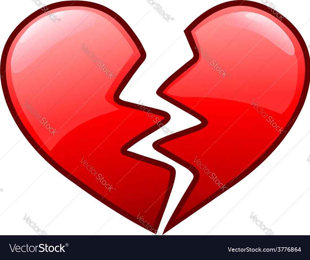 Broken heart icon vector | Price: 1 Credit (USD $1)