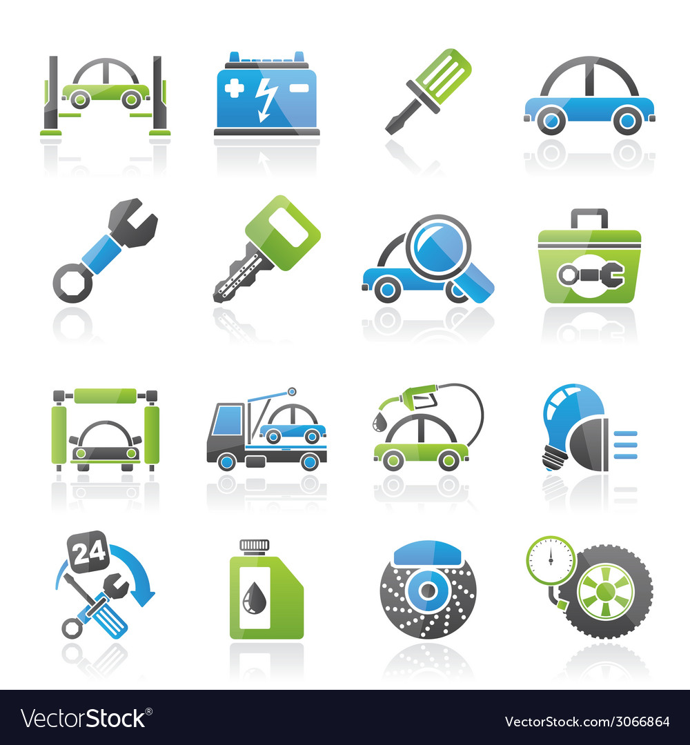 Car service maintenance icons vector | Price: 1 Credit (USD $1)