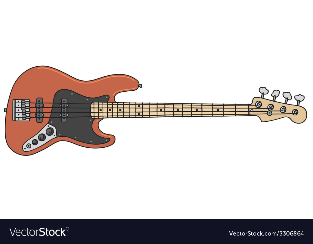 Electric bass guitar vector | Price: 1 Credit (USD $1)