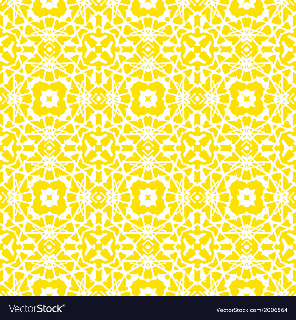 Geometric art deco pattern in bright yellow vector | Price: 1 Credit (USD $1)