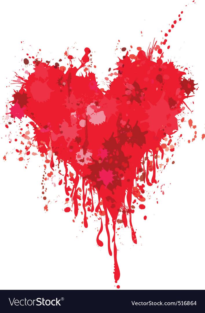 Grunge heart vector | Price: 1 Credit (USD $1)