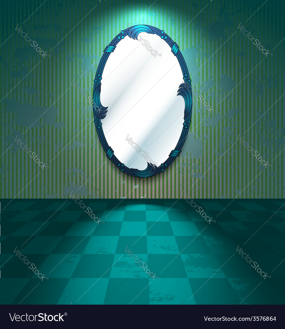 Grungy room with mirror vector | Price: 1 Credit (USD $1)