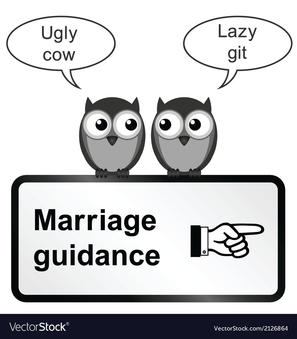 Marriage problems vector | Price: 1 Credit (USD $1)