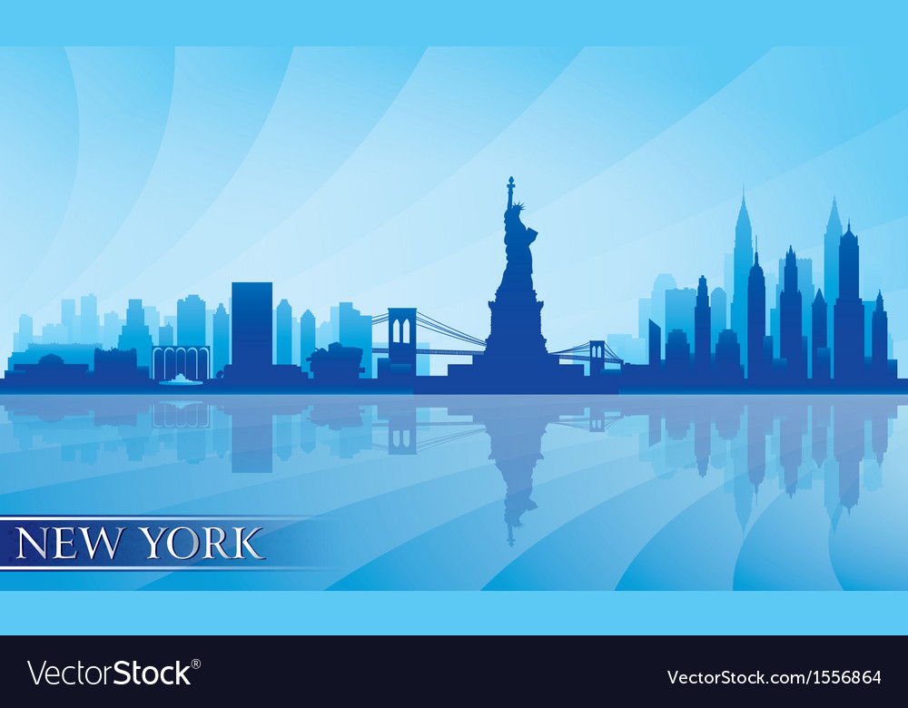 New york city skyline detailed silhouette vector | Price: 1 Credit (USD $1)
