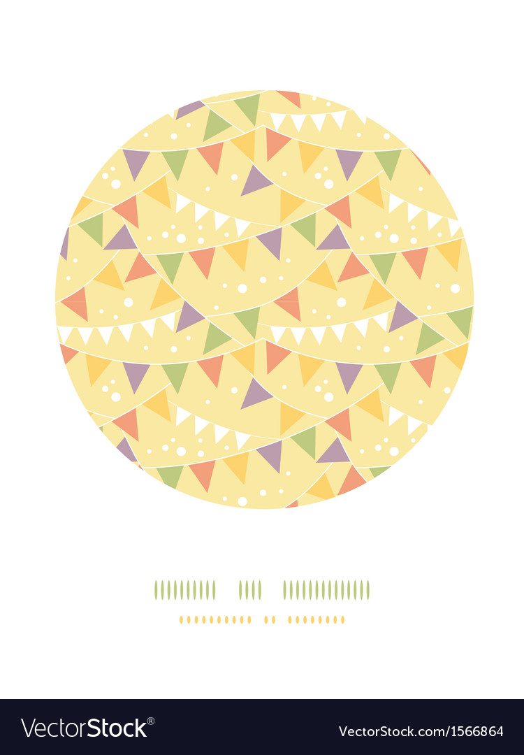 Party decorations bunting circle decor pattern vector | Price: 1 Credit (USD $1)