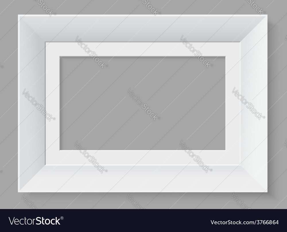 White frame isolated on grey background vector | Price: 1 Credit (USD $1)