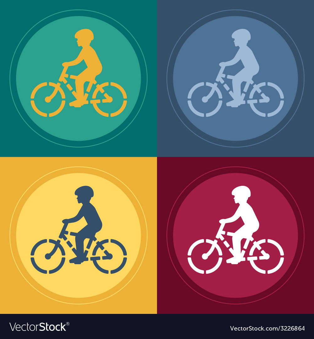 Young biker stencil vector | Price: 1 Credit (USD $1)