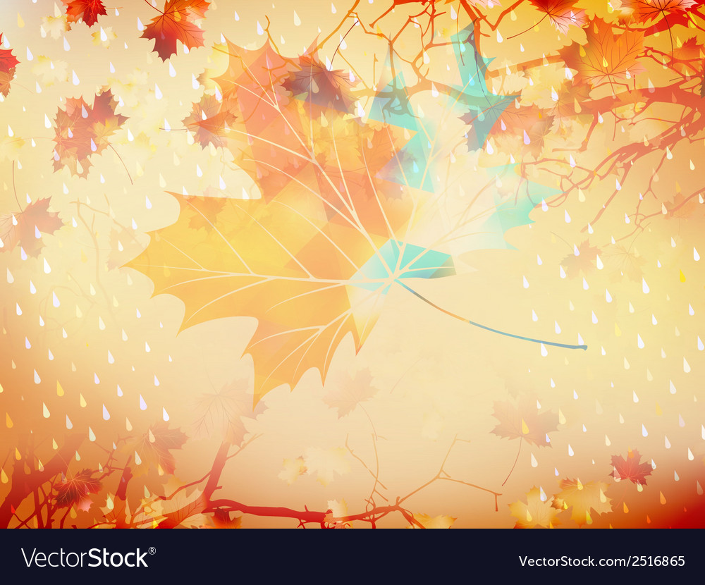 Autumnal maple leaf made of triangles eps 10 vector | Price: 1 Credit (USD $1)