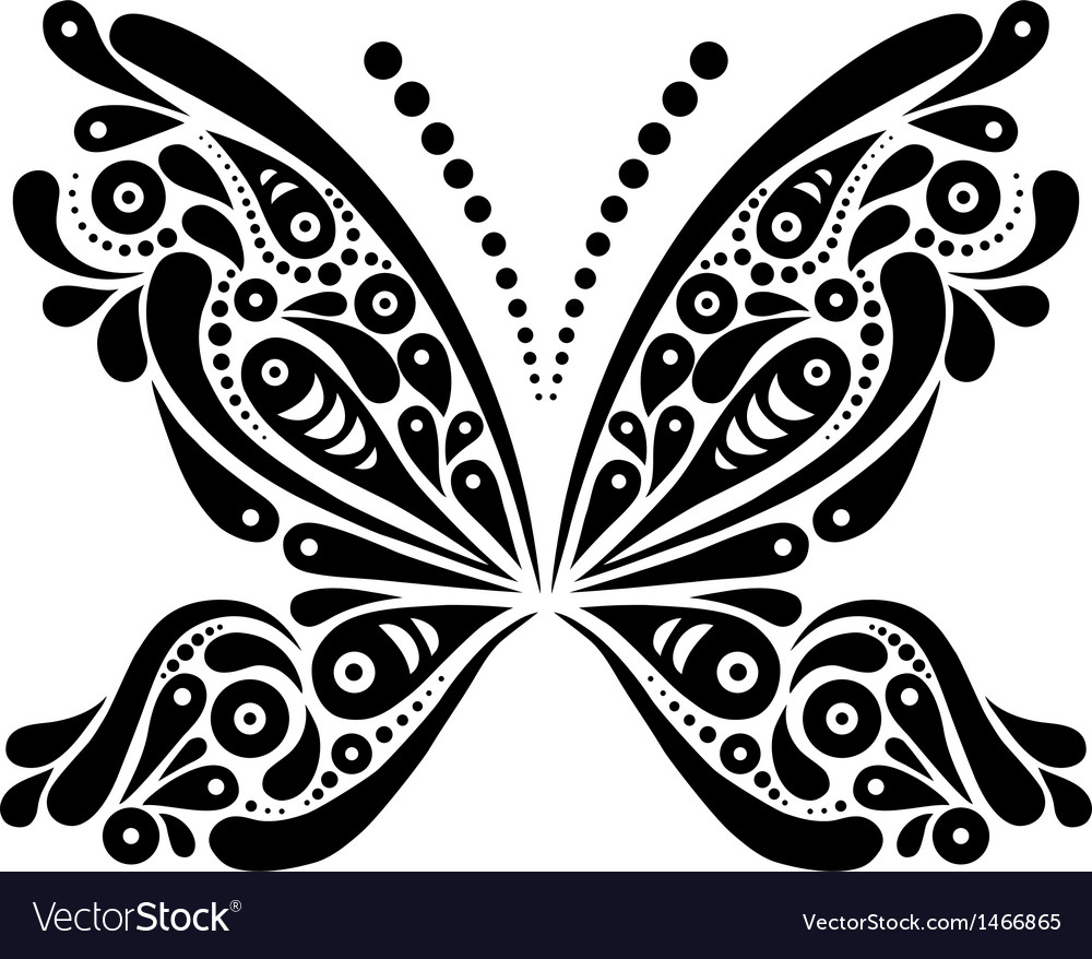 Beautiful butterfly tattoo vector | Price: 1 Credit (USD $1)