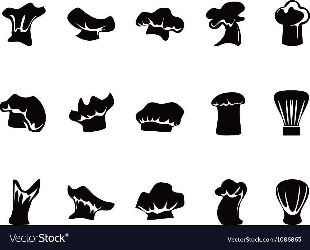 Chef hats icon set vector | Price: 1 Credit (USD $1)