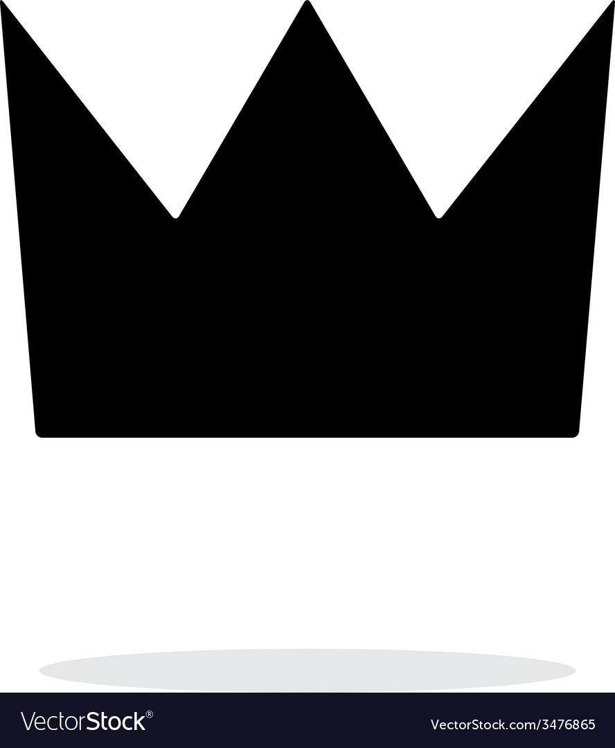 Crown king icon on white background vector | Price: 1 Credit (USD $1)