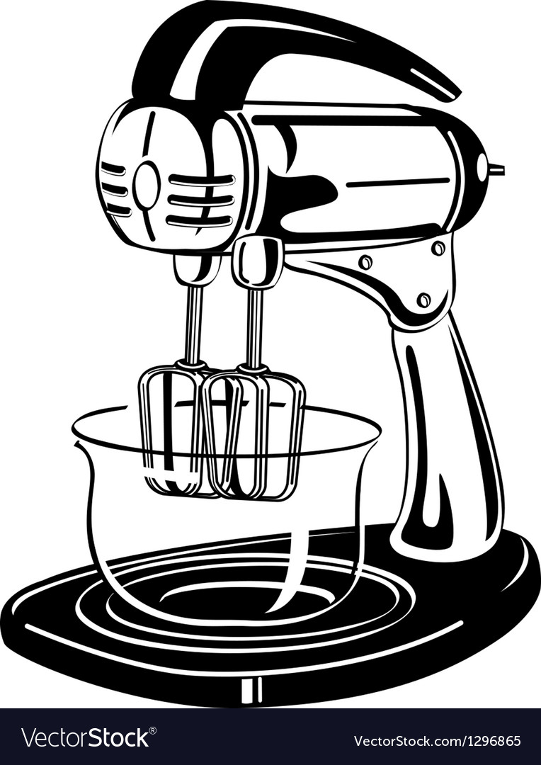 Kitchen mixer vector | Price: 1 Credit (USD $1)