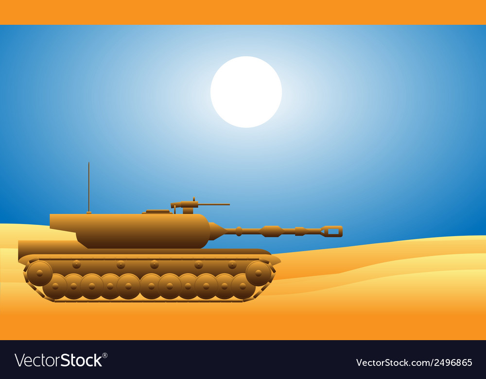 Modern heavy tank vector | Price: 1 Credit (USD $1)