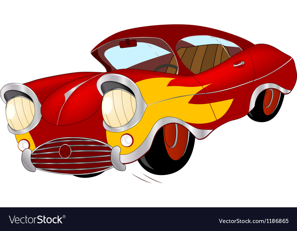The old car from a cartoon film vector | Price: 3 Credit (USD $3)
