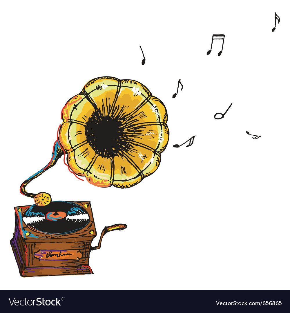 Vintage gramophone vector | Price: 1 Credit (USD $1)
